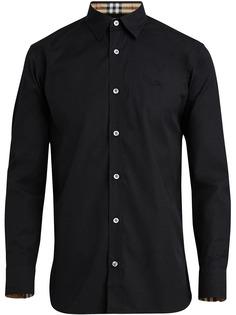 Burberry эластичная поплиновая рубашка