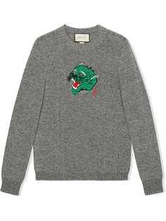 Gucci трикотажный джемпер с вышивкой