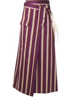 Golden Goose юбка в полоску с завышенной талией