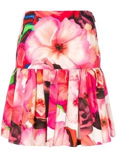 MSGM плиссированная юбка с цветочным принтом