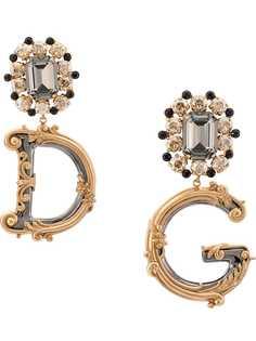 Dolce & Gabbana серьги в форме логотипа DG