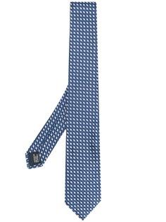 Lanvin галстук с принтом в клетку
