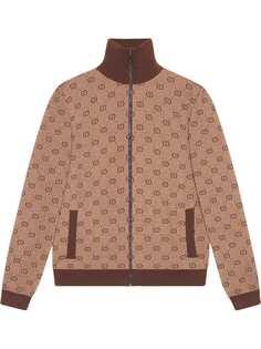 Gucci трикотажная куртка-бомбер с узором GG