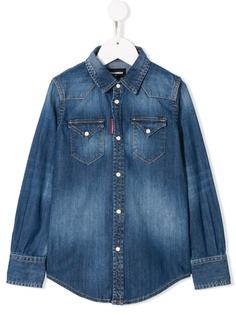 Dsquared2 Kids джинсовая рубашка