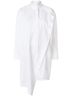 Valentino удлиненная асимметричная рубашка на пуговицах
