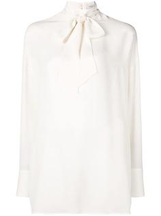 Valentino блузка с горловиной на завязке