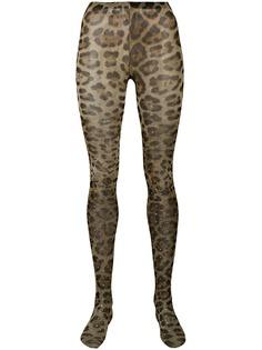 Dolce & Gabbana колготки с леопардовым принтом