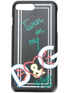 Dolce & Gabbana чехол для iPhone 7 Plus с принтом сердца