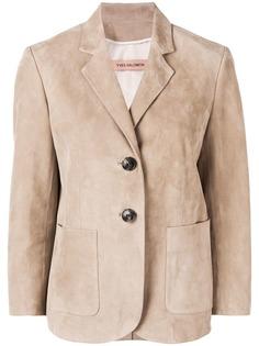 Yves Salomon кожаный пиджак