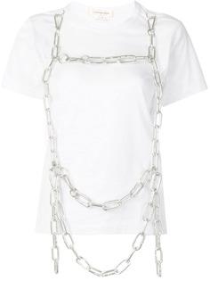 Comme Des Garçons футболка с цепочным декором