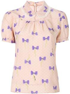 Miu Miu рубашка с принтом бантов