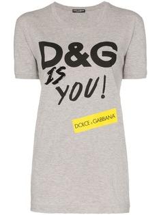 Dolce & Gabbana футболка с принтом D&G Is You