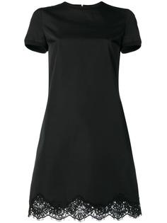 Dsquared2 короткое платье с фестонами и кружевом