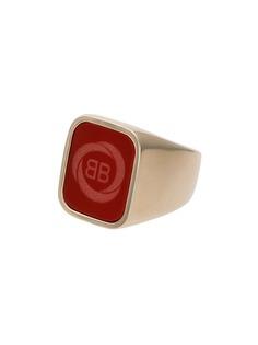 Balenciaga квадратное кольцо с логотипом