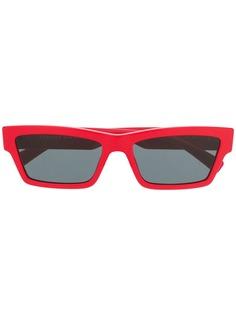 Versace Eyewear солнцезащитные очки в прямоугольной оправе