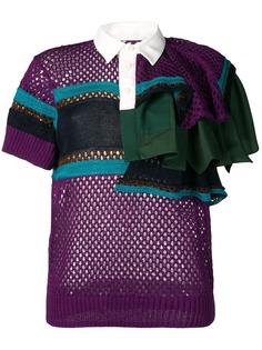 Sacai трикотажная рубашка-поло
