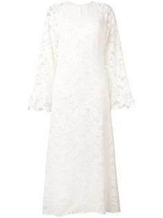 Giamba кружевное платье макси с широкими рукавами