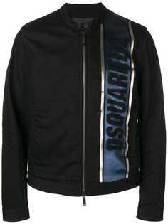 Dsquared2 куртка с полосками металлик