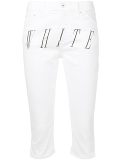 Off-White укороченные джинсы с логотипом