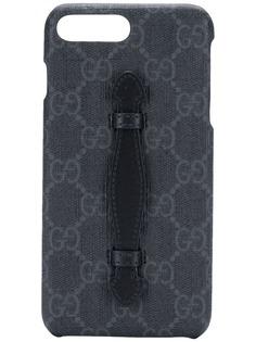 Gucci чехол для iPhone 8 Plus с узором GG Supreme