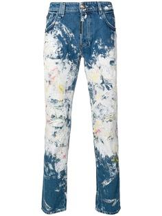 Philipp Plein прямые джинсы с принтом