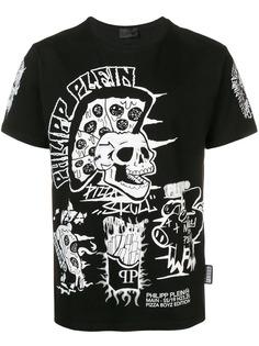 Philipp Plein футболка с изображением черепа