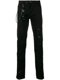 Emporio Armani джинсы с эффектом краски