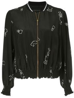 Karen Walker куртка-бомбер с принтом