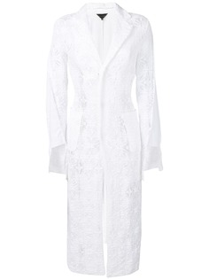 Comme Des Garçons кружевное однобортное пальто