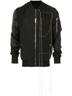 Rick Owens куртка-бомбер с декоративной строчкой