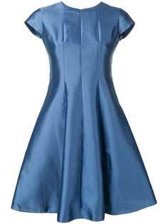 Emporio Armani расклешенное платье макси с эффектом металлик