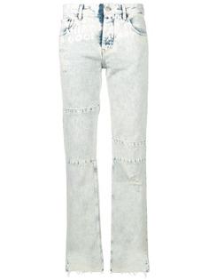 MM6 Maison Margiela прямые джинсы со вставками