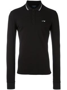 Armani Jeans рубашка-поло с логотипом