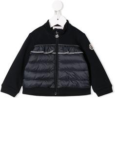 Moncler Kids куртка-пуховик с оборкой