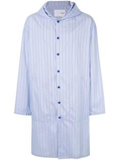 Yoshiokubo пальто-рубашка с принтом