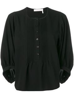 See By Chloé блузка с плиссировкой на груди