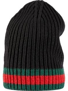 Gucci шапка бини с отделкой Web
