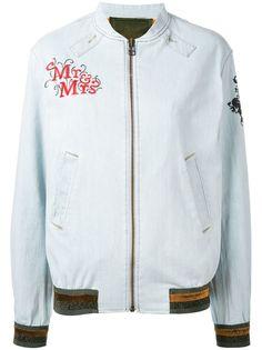 Mr & Mrs Italy куртка бомбер с нашивками