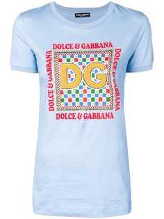Dolce & Gabbana футболка с фактурной нашивкой