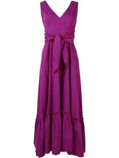 P.A.R.O.S.H. платье макси Fantasia в полоску