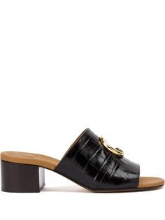 Chloé мюли на наборном каблуке