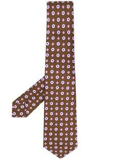 Kiton галстук с геометричным узором