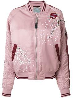 Alpha Industries куртка-бомбер с цветущей сакурой