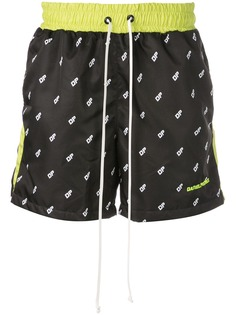 Daniel Patrick плавки-шорты с принтом логотипа