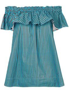 P.A.R.O.S.H. полосатая блузка с открытыми плечами