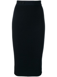 Fendi трикотажная юбка-карандаш
