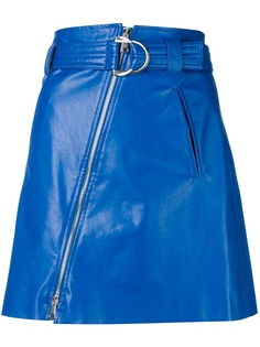 Pinko юбка мини из искусственной кожи