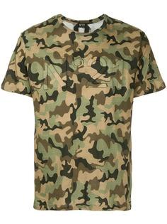 Nº21 футболка с камуфляжным принтом