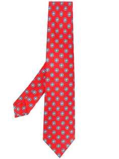 Kiton галстук с геометричным принтом