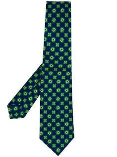 Kiton галстук с цветочным принтом